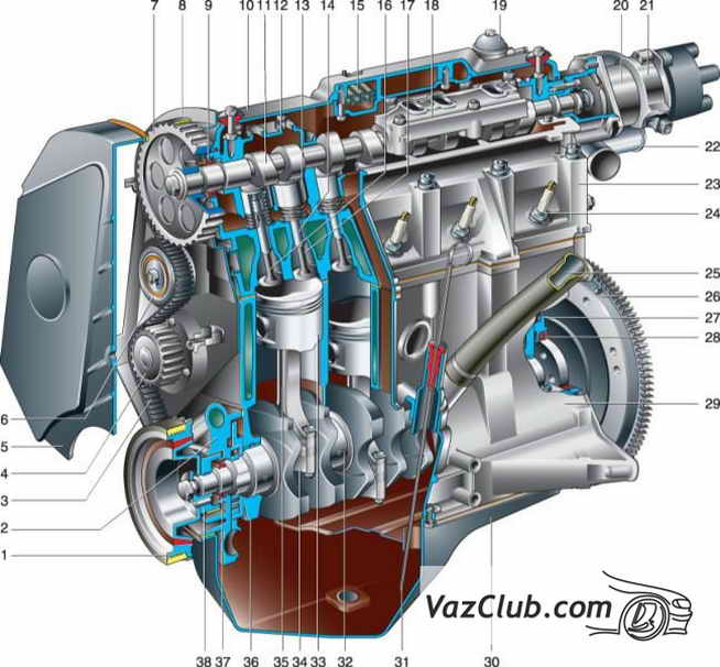 Руководство К Ладе Калина 16 Цилиндровый Двигатель