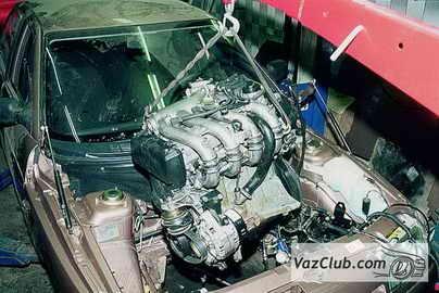 Снять двигатель на ваз 2110