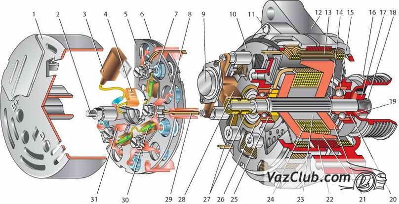 Ваз 2114 схема включения задних противотуманных.