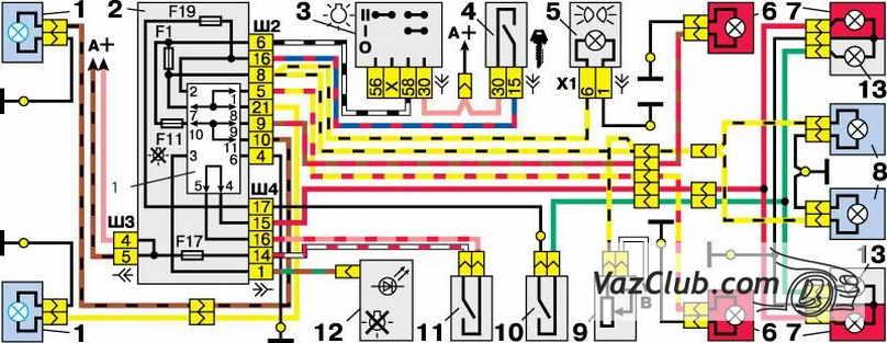 Схема сигналу ваз-2108