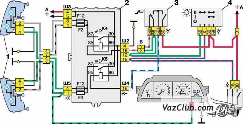 Ваз 2111 схема деталей
