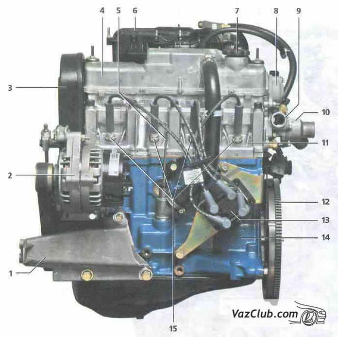 двигатель lada kalina вид