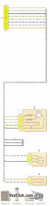 Схемы жгутов проводов коробки