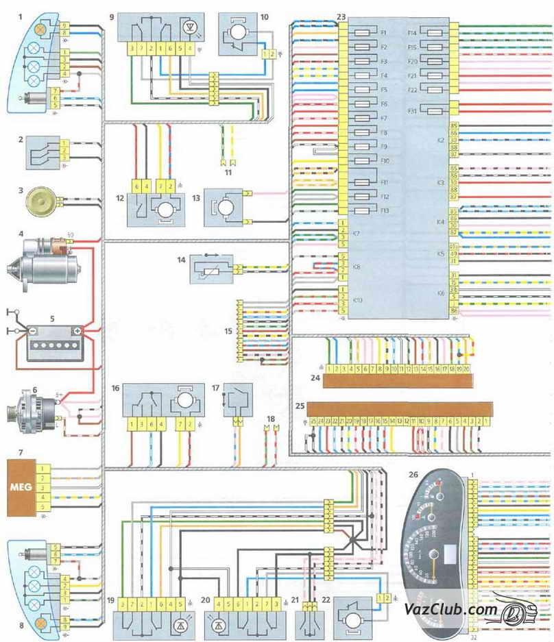 Электрооборудование Лада