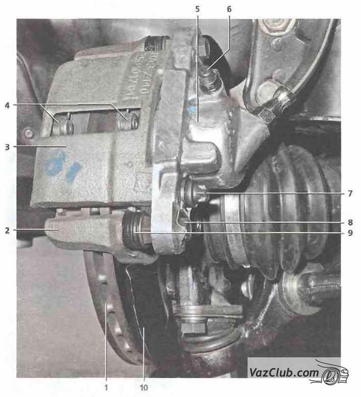 Замена передних тормозных колодок на калине своими руками 76