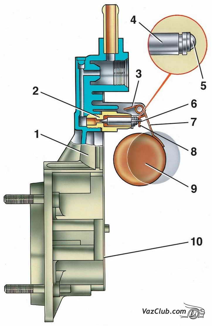 схема подсоединения эконостата на ваз 2109