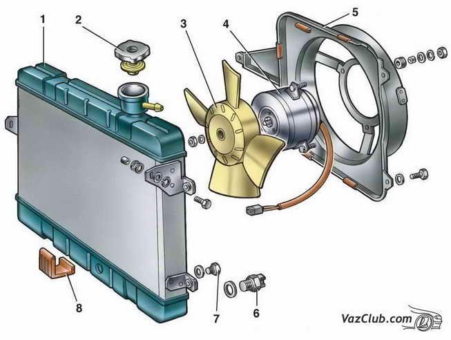 Радиатор Ваз 2107, Ваз 2105,