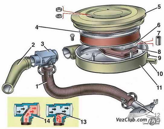 Воздушный фильтр ваз 2107 ваз 2105 ваз 2104