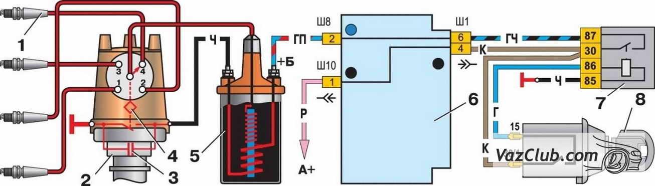 Система зажигания Ваз 2107,