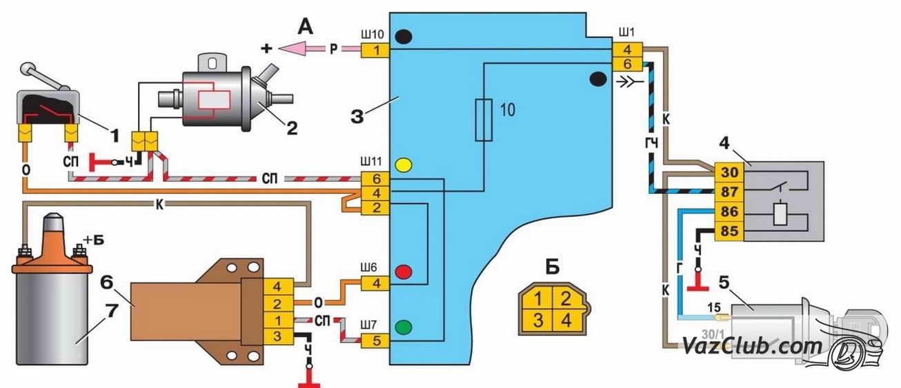 upravlenie pnevmoklapanom karbyuratora 1 - Электропневмоклапан карбюратора ваз 2107