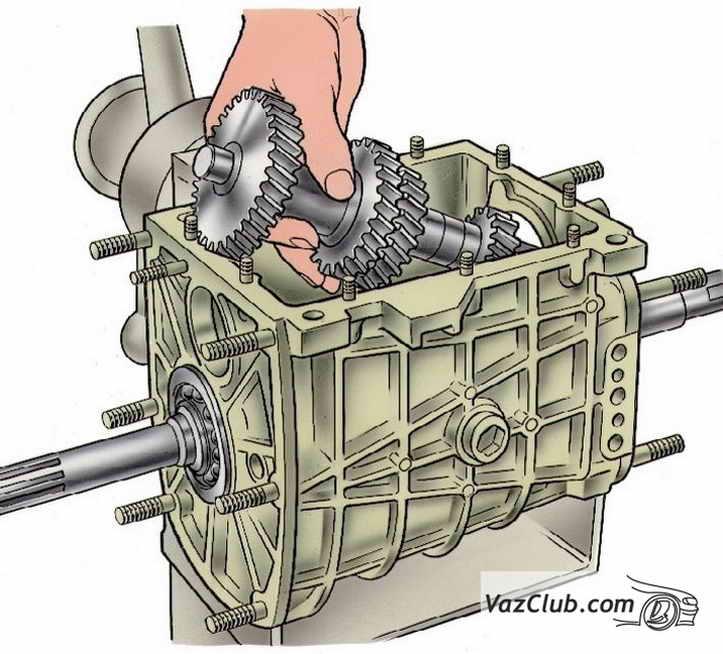 промежуточный вал картера коробки передач