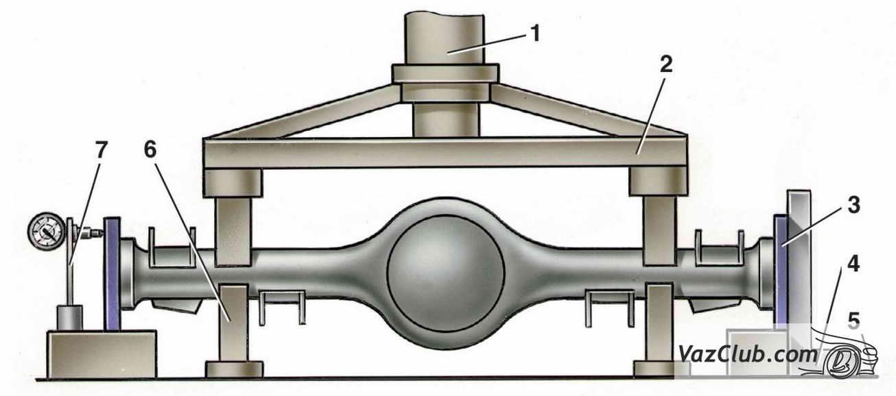 схема балки заднего моста ваз