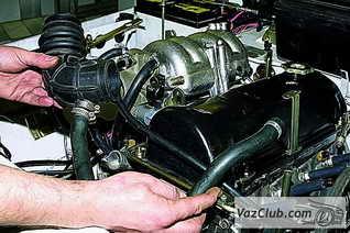 снятие двигателя ваз 2121, ваз 2131