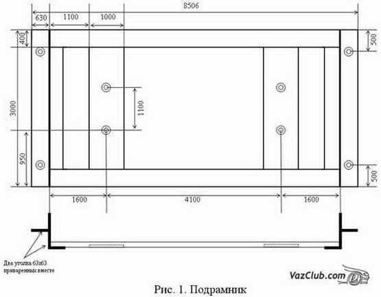 схема подрамника раздатки