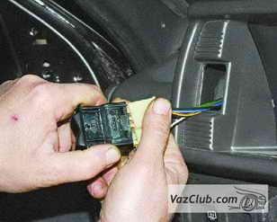 колодка проводов переключателя