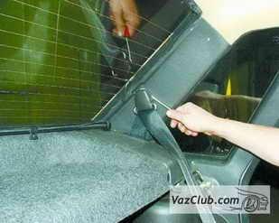 zamena zadnego remnya 3 - Установка задних ремней безопасности на ваз 21099