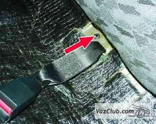 zamena zadnego remnya 8 - Установка задних ремней безопасности на ваз 21099