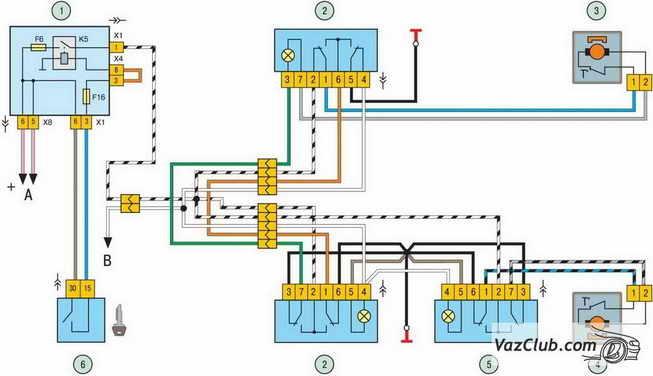 схема электростеклоподъемников дверей