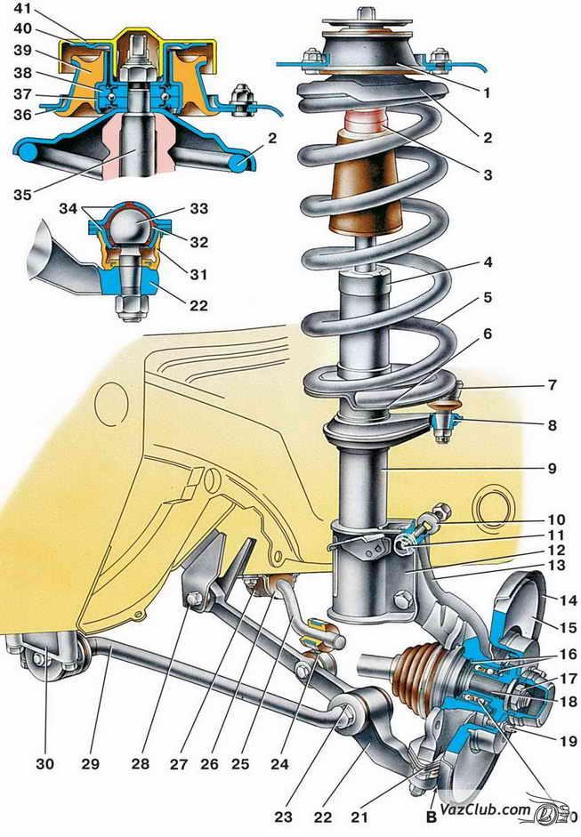 ремонт передней подвески ваз 2114