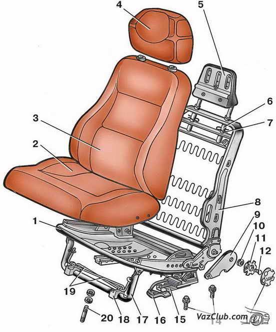Снятие и установка сидений Ваз