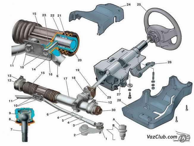 Рулевой механизм Ваз 2114,